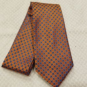 Nordstrom Mens Orange Blue Silk Tie